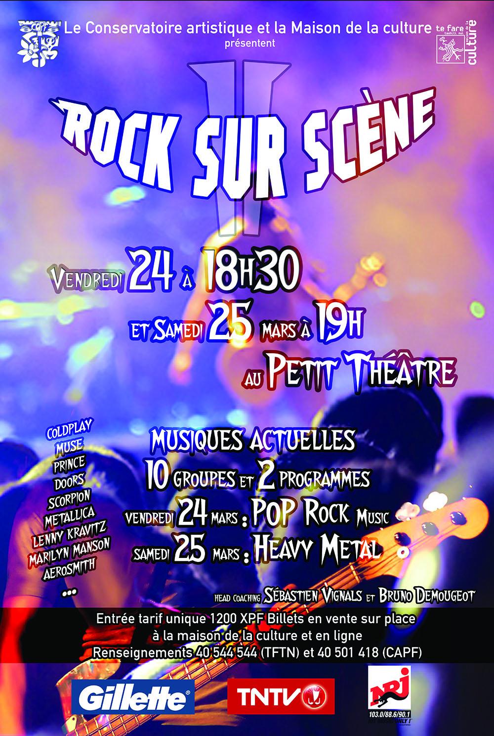 Rock sur scène – 24 & 25 mars