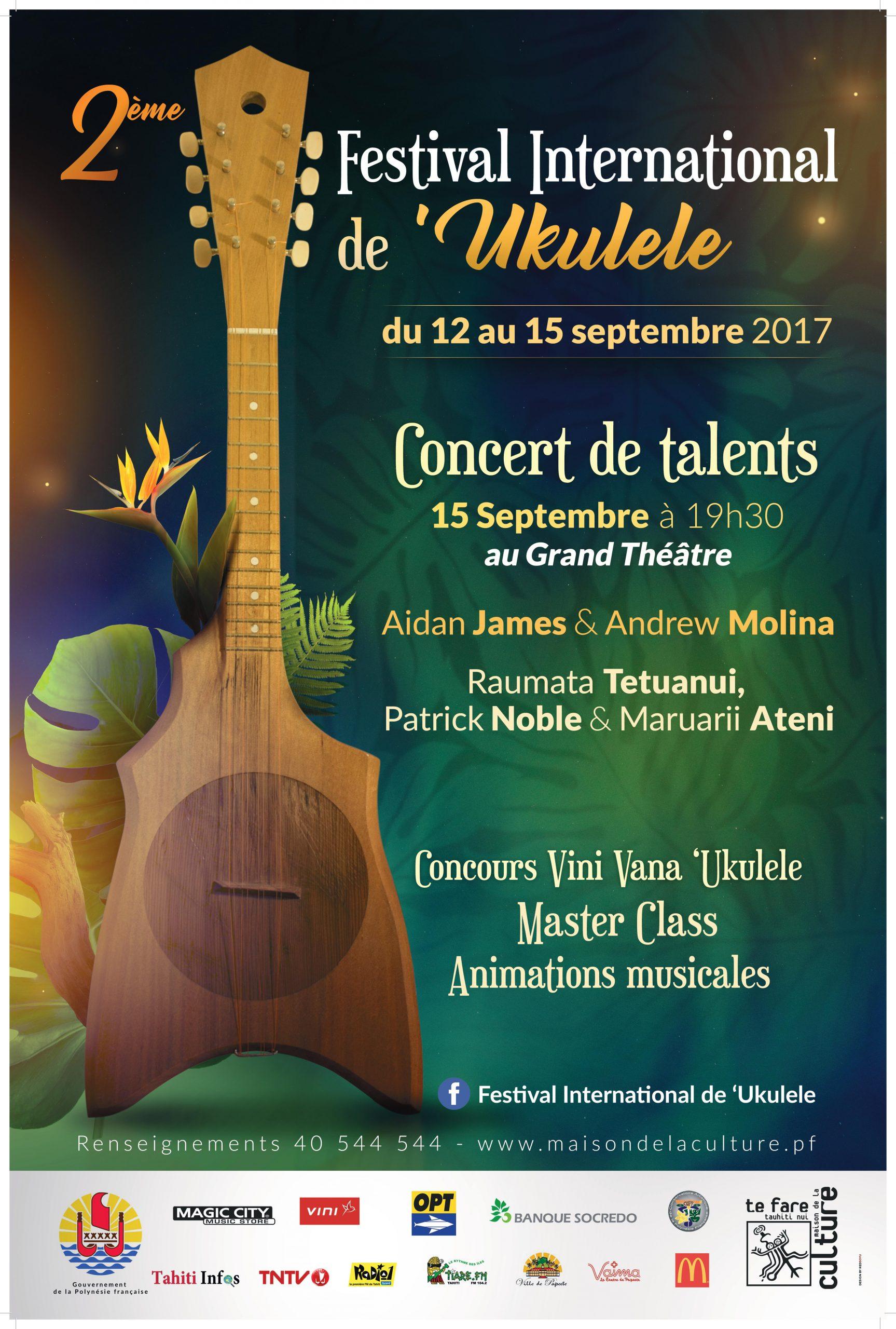 Affiche 2ème festival ukulele – ok