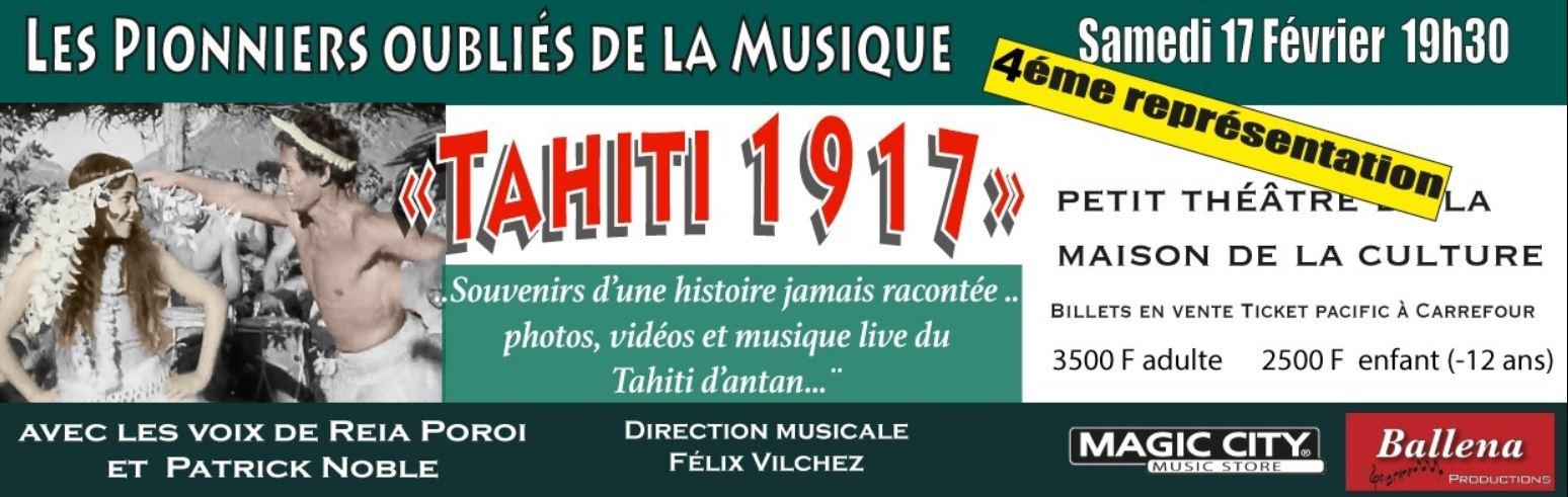 4ème représentation Tahiti 1917