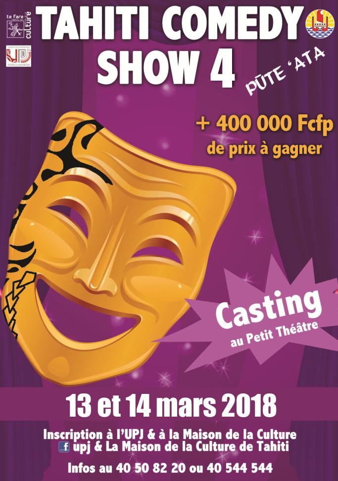 Tahiti Comedy Show 4 – Casting