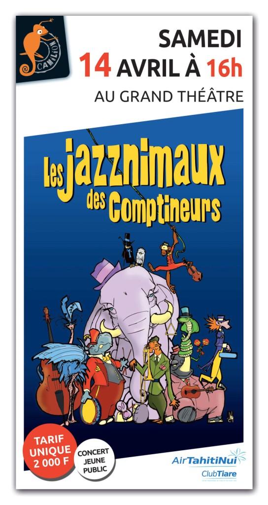 Affiche Concert – Les jazznimaux des comptineurs low