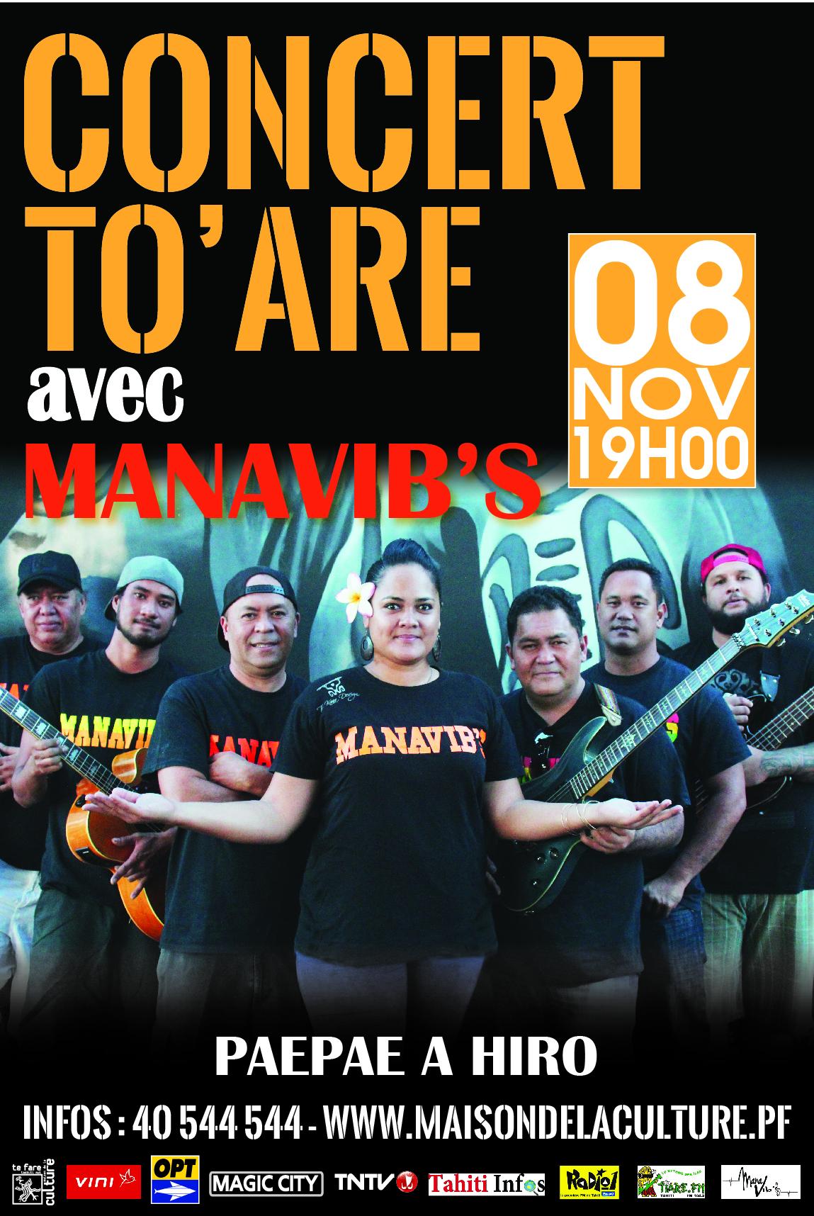 Affiche concert toare Manavibs-jaune
